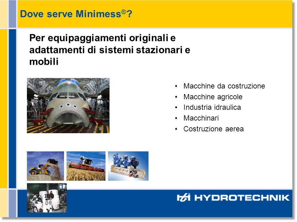 Dove serve Minimess® Per equipaggiamenti originali e adattamenti di sistemi stazionari e mobili. Macchine da costruzione.