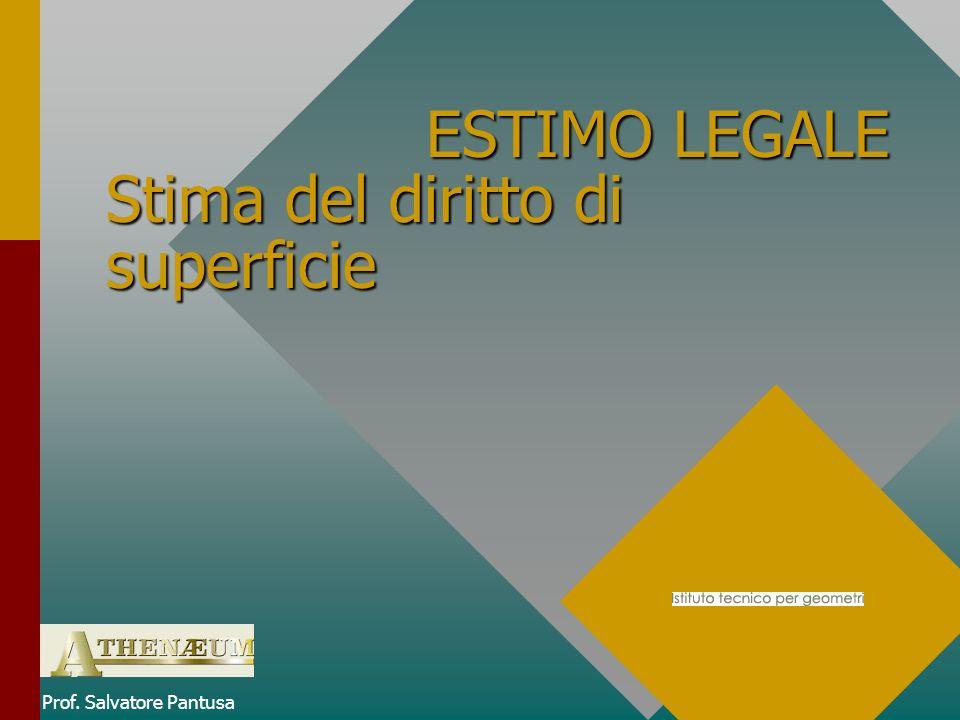 ESTIMO LEGALE Stima del diritto di superficie