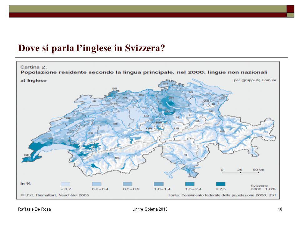 Dove si parla l'inglese in Svizzera