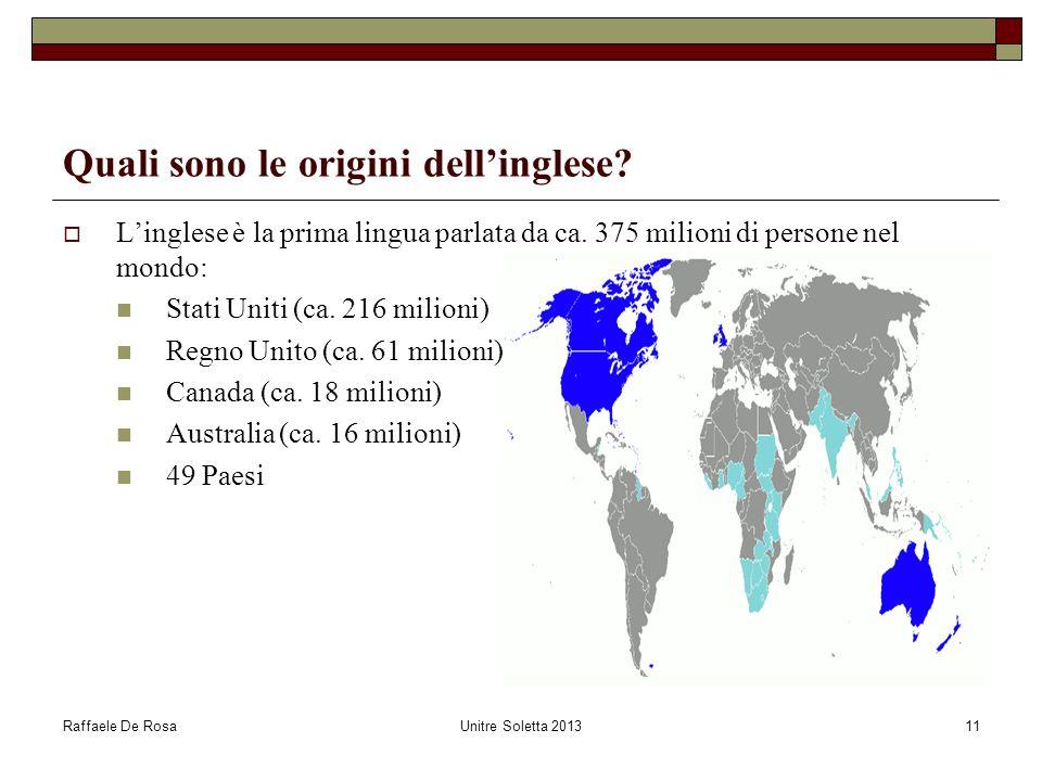 Quali sono le origini dell'inglese