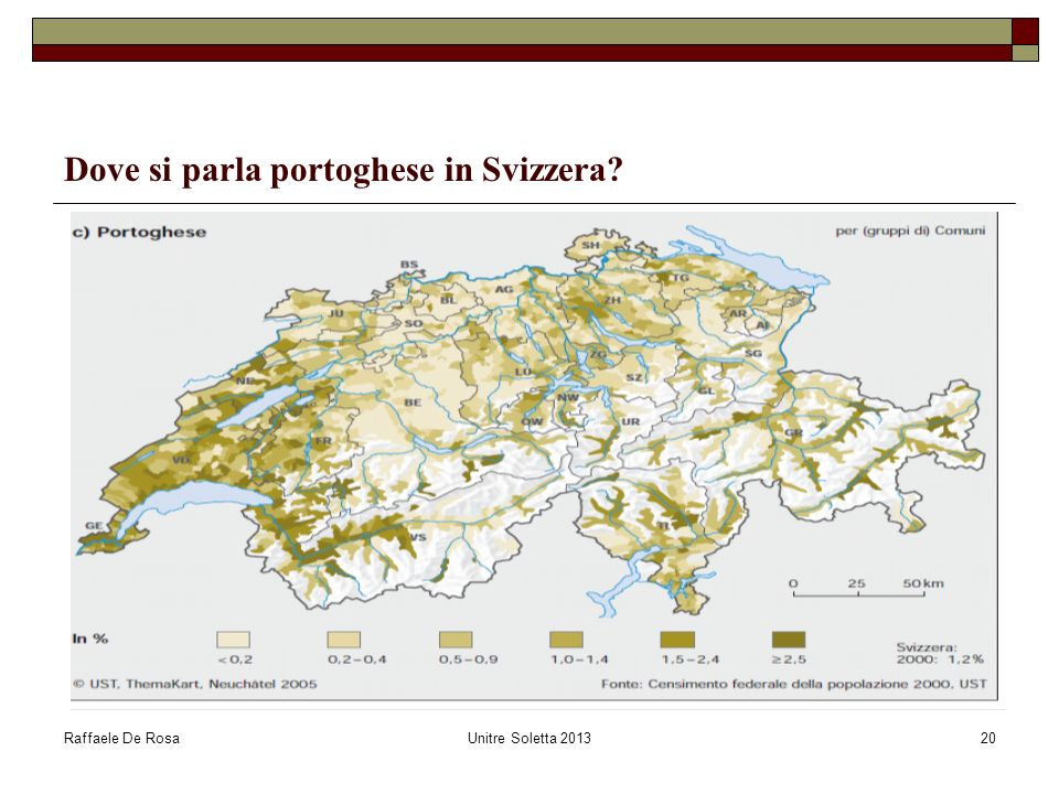 Dove si parla portoghese in Svizzera