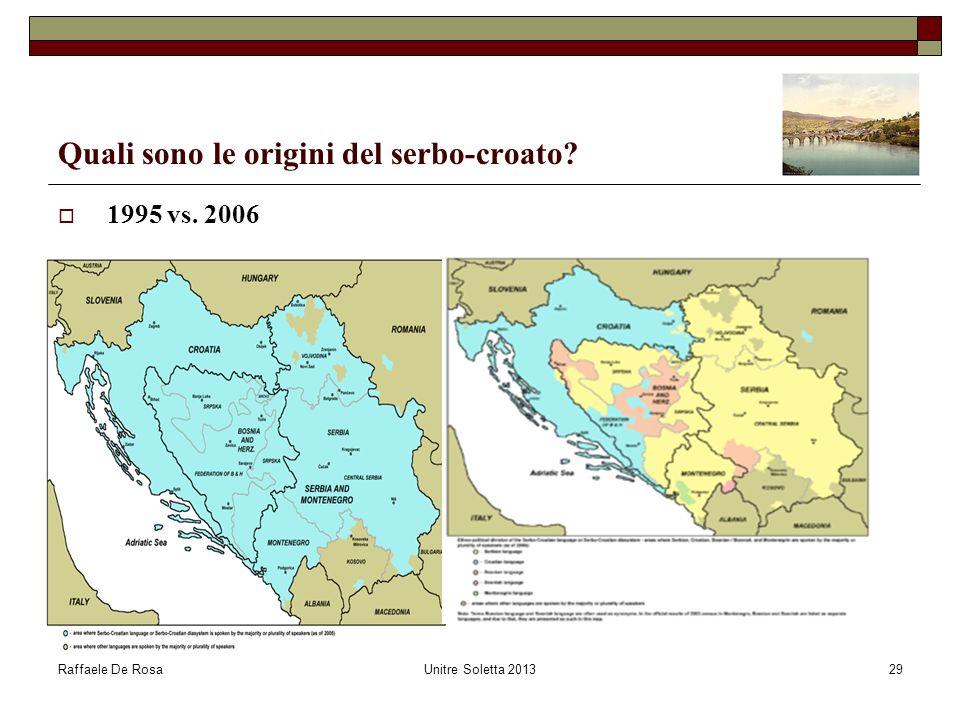 Quali sono le origini del serbo-croato