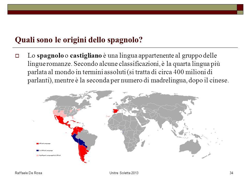 Quali sono le origini dello spagnolo