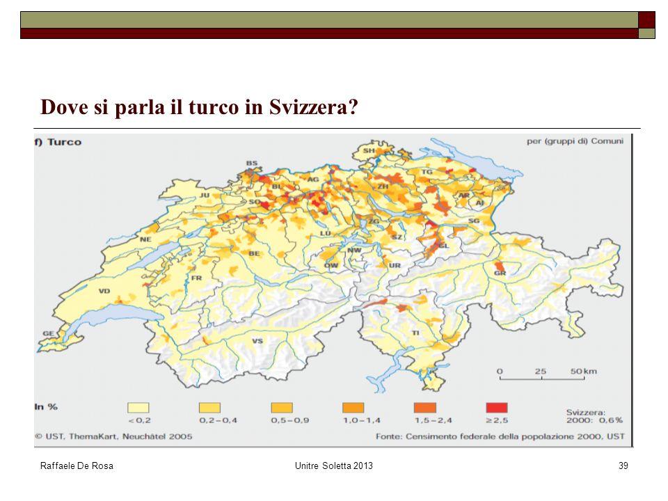 Dove si parla il turco in Svizzera