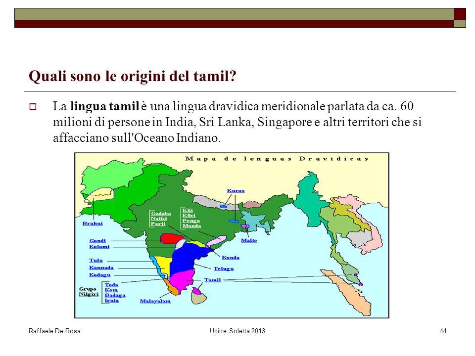 Quali sono le origini del tamil
