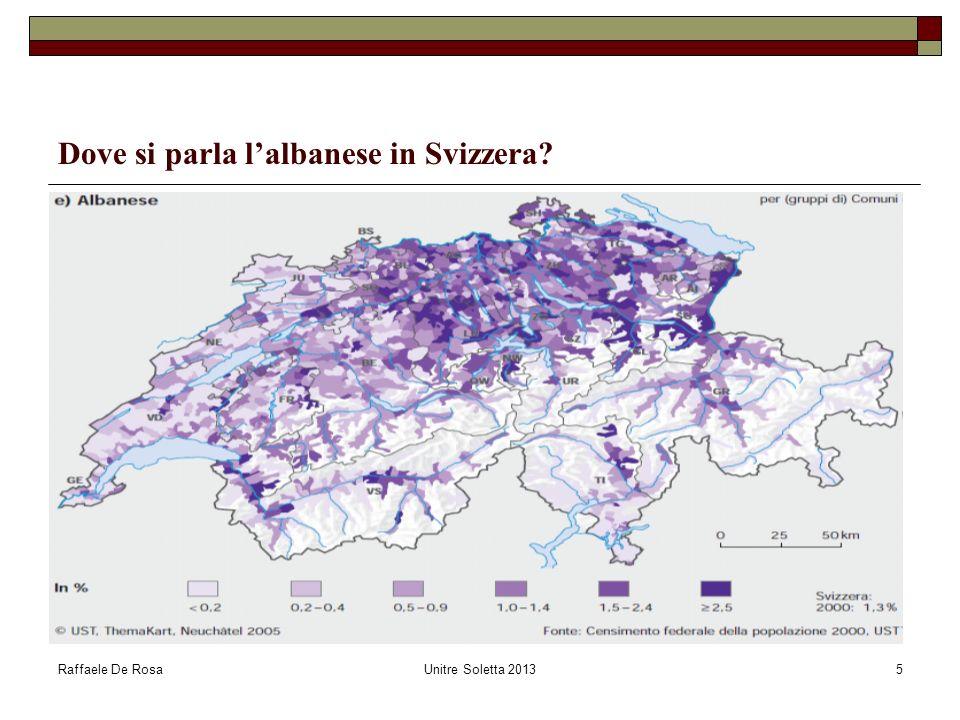 Dove si parla l'albanese in Svizzera