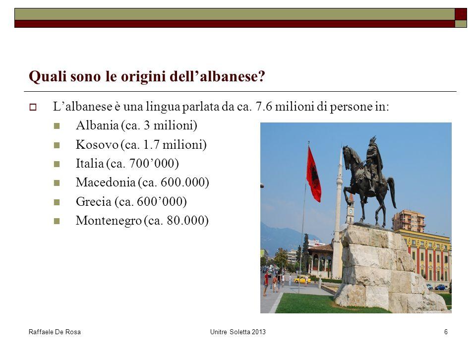 Quali sono le origini dell'albanese