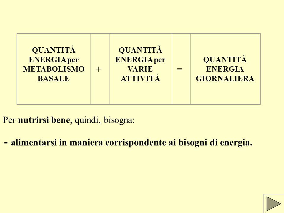 QUANTITÀ ENERGIA GIORNALIERA