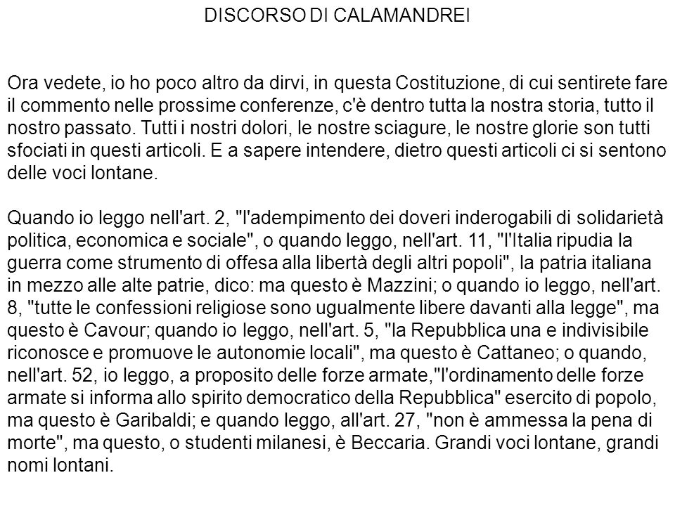 DISCORSO DI CALAMANDREI