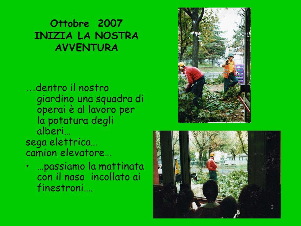 Ottobre 2007 INIZIA LA NOSTRA AVVENTURA