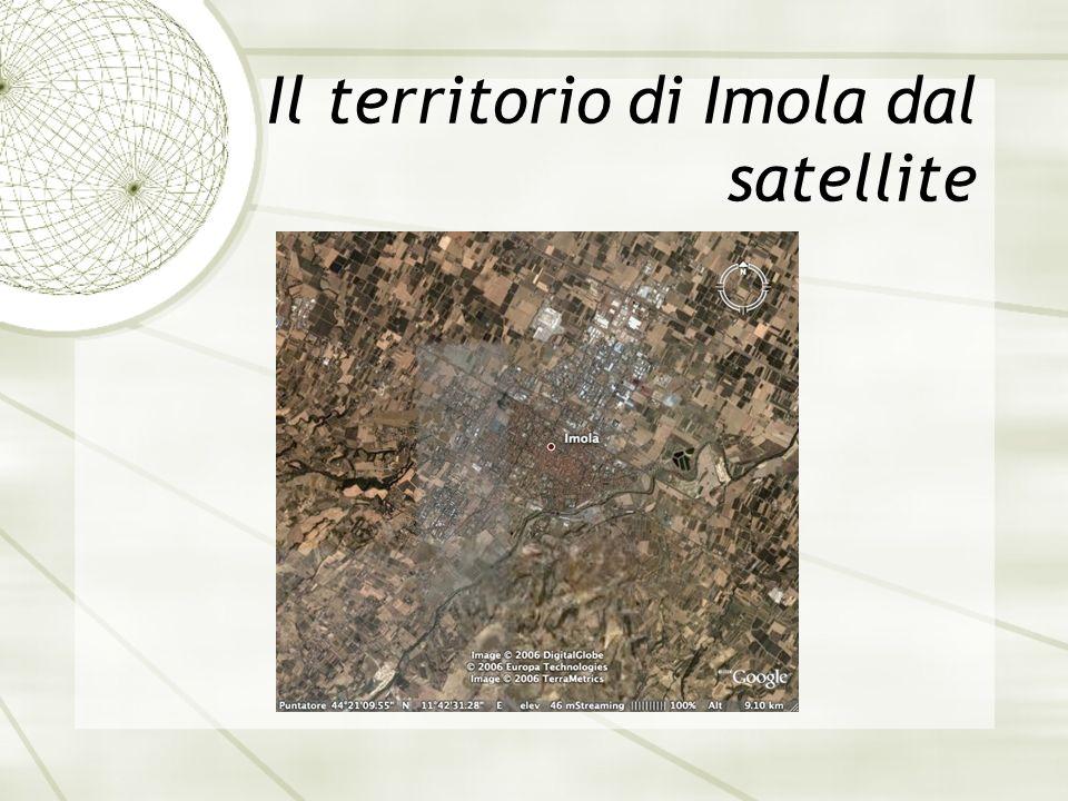 Il territorio di Imola dal satellite