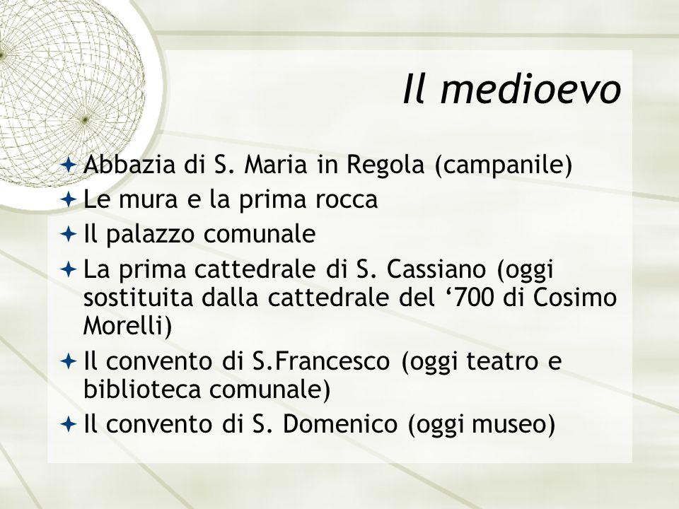 Il medioevo Abbazia di S. Maria in Regola (campanile)