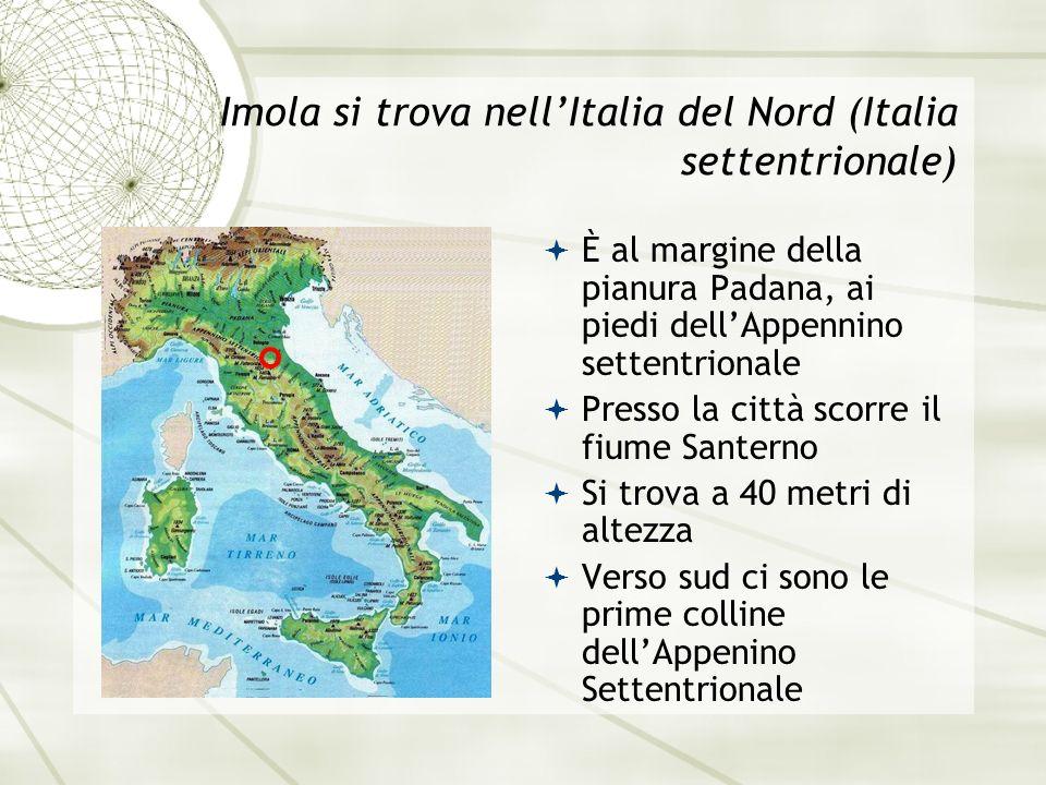 Imola si trova nell'Italia del Nord (Italia settentrionale)