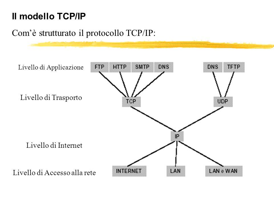Com'è strutturato il protocollo TCP/IP: