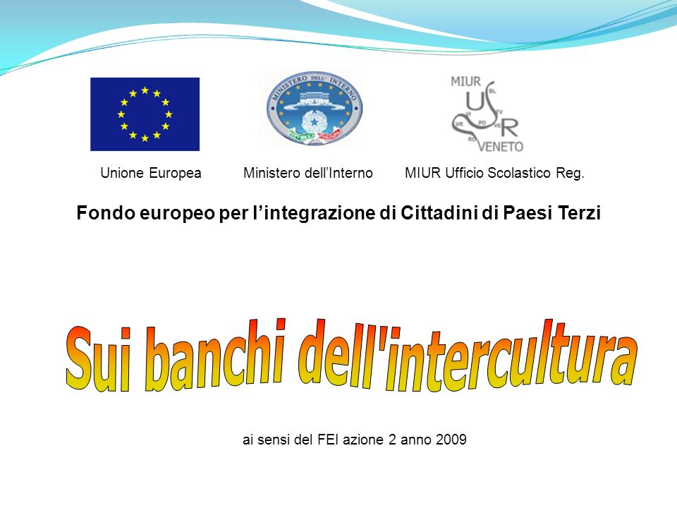 Sui banchi dell intercultura