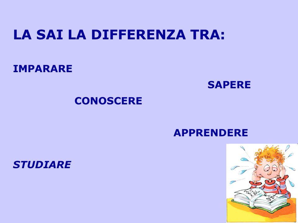 LA SAI LA DIFFERENZA TRA: