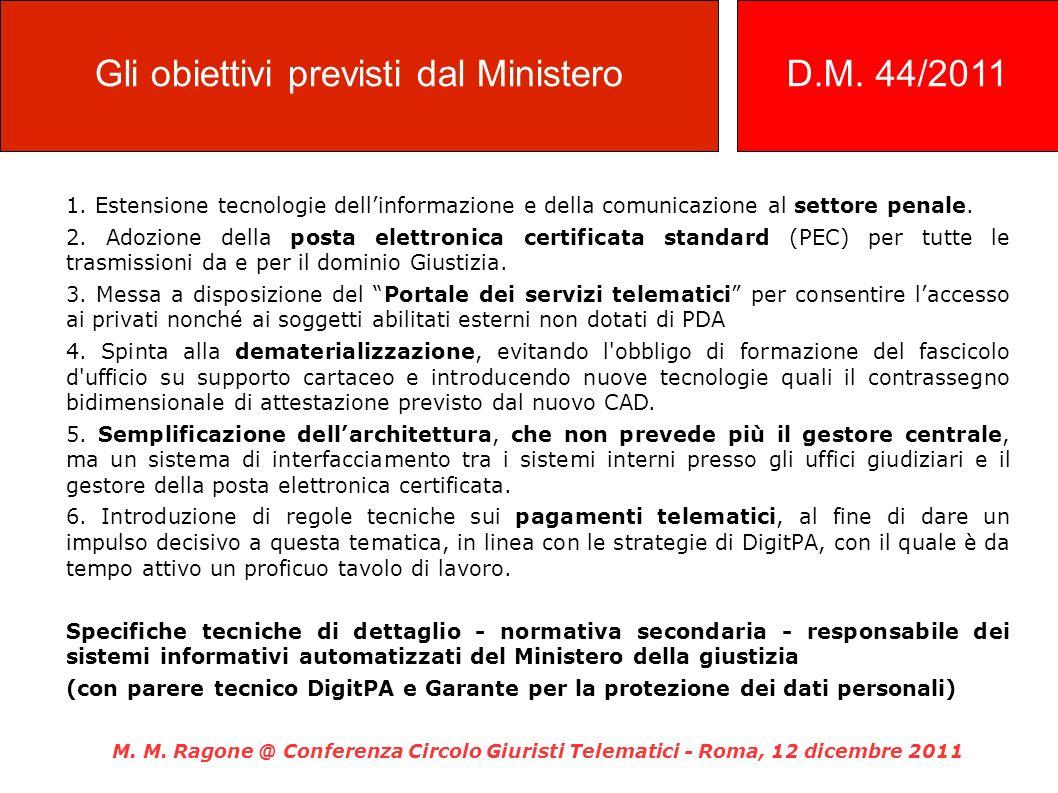 Gli obiettivi previsti dal Ministero