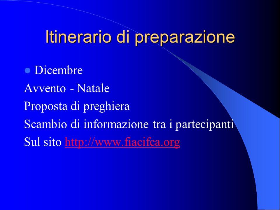 Itinerario di preparazione