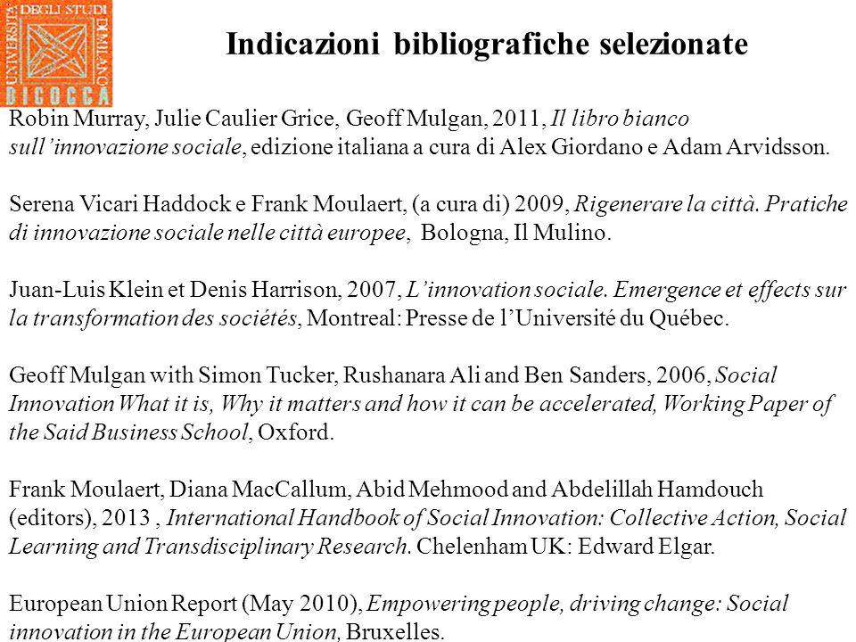Indicazioni bibliografiche selezionate