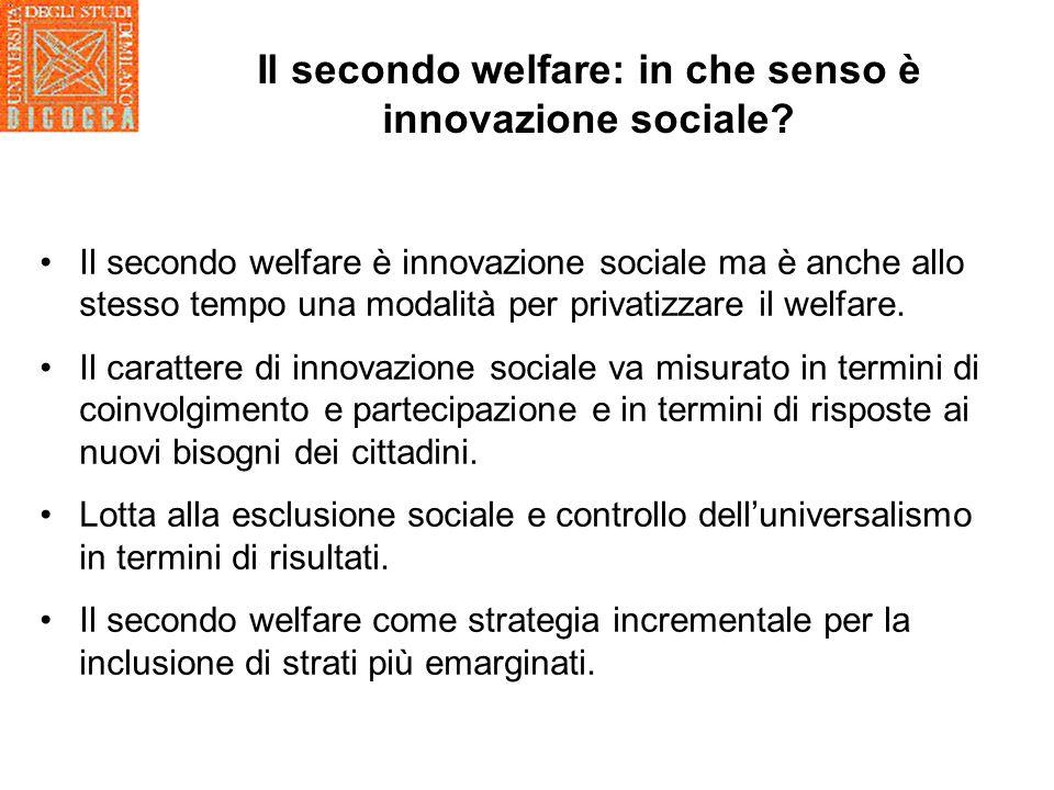 Il secondo welfare: in che senso è innovazione sociale