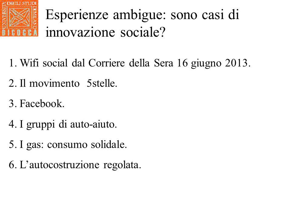 Esperienze ambigue: sono casi di innovazione sociale
