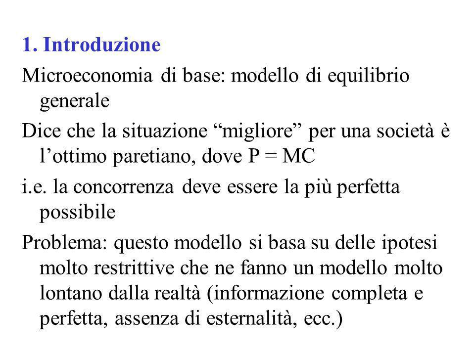 1. Introduzione Microeconomia di base: modello di equilibrio generale.