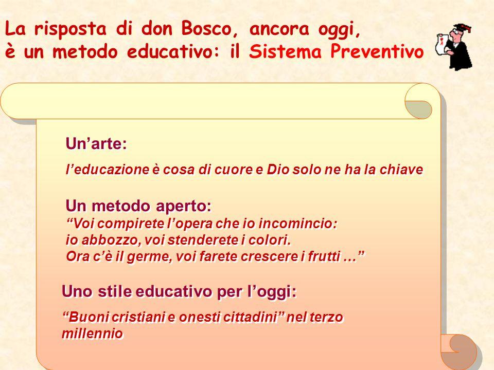 La risposta di don Bosco, ancora oggi,