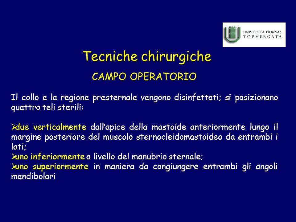 Tecniche chirurgiche CAMPO OPERATORIO