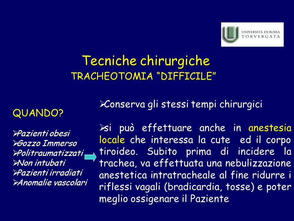 TRACHEOTOMIA DIFFICILE