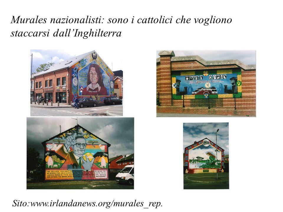 Murales nazionalisti: sono i cattolici che vogliono staccarsi dall'Inghilterra
