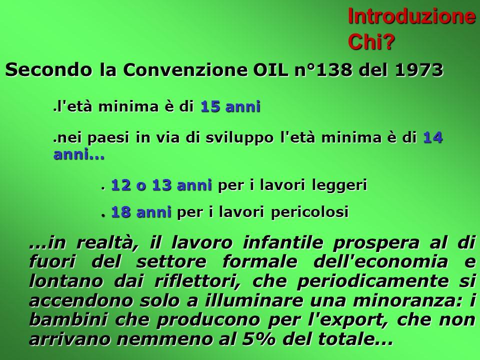 Introduzione Chi Secondo la Convenzione OIL n°138 del 1973