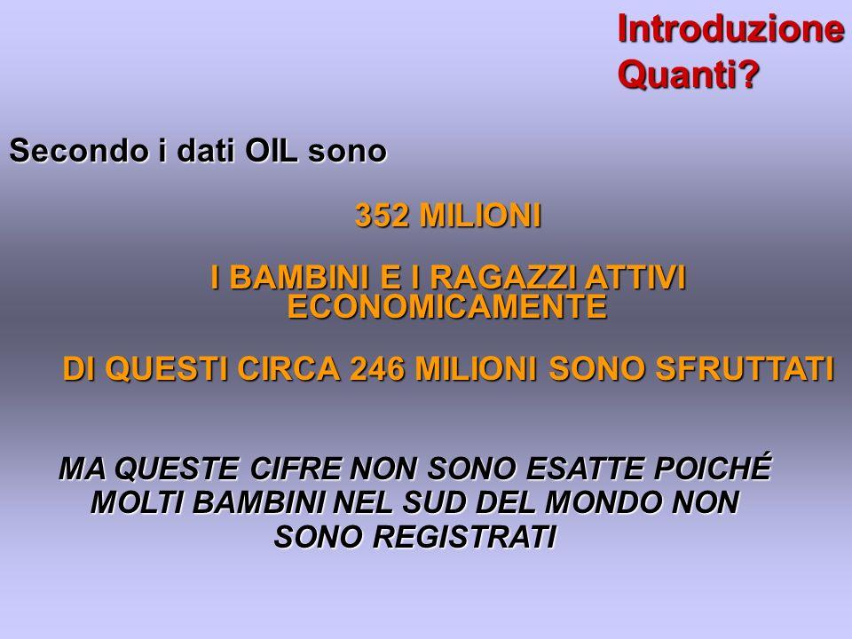Introduzione Quanti Secondo i dati OIL sono 352 MILIONI
