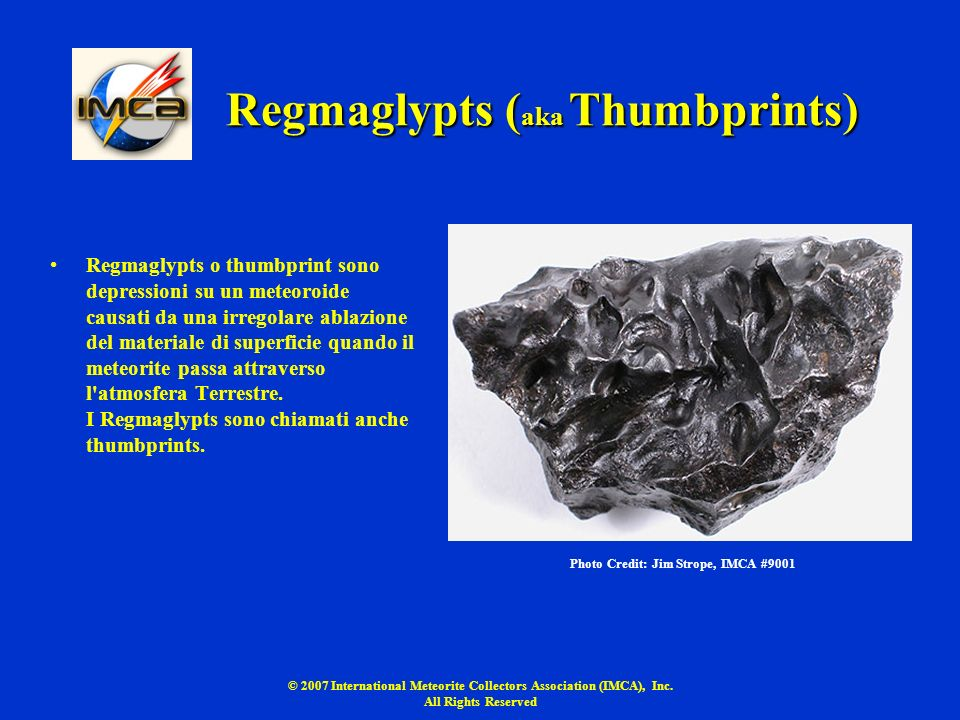 Regmaglypts (aka Thumbprints)