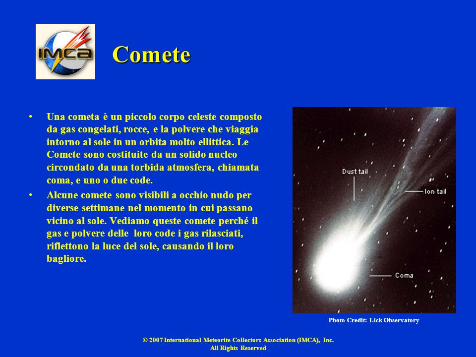 © 2007 International Meteorite Collectors Association (IMCA), Inc.