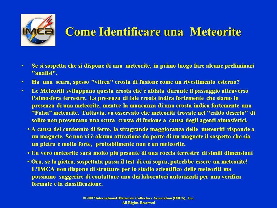Come Identificare una Meteorite