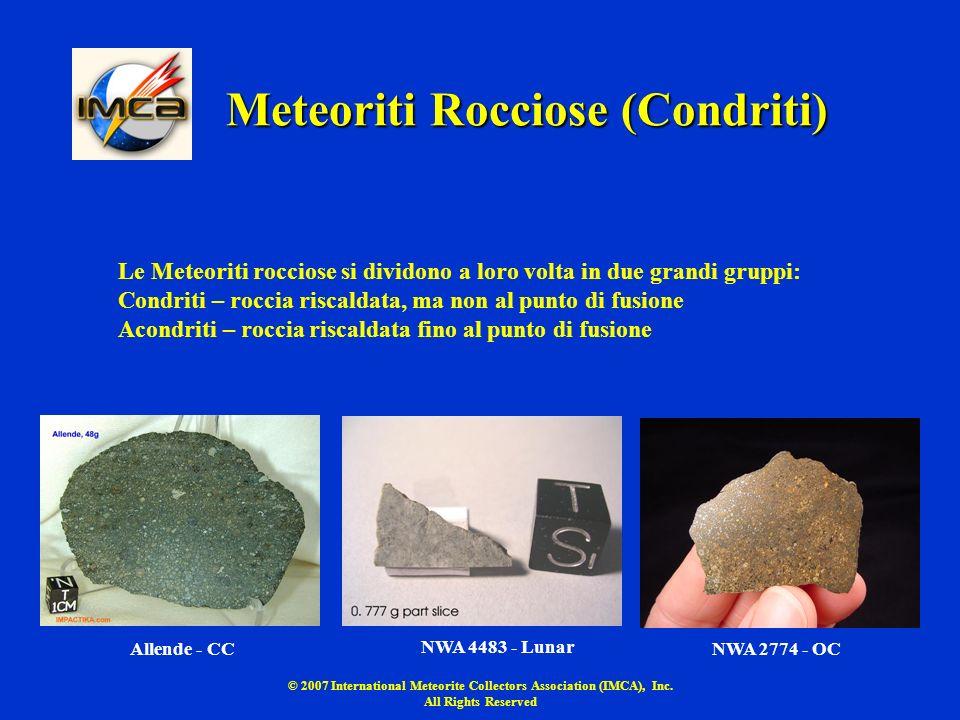 Meteoriti Rocciose (Condriti)