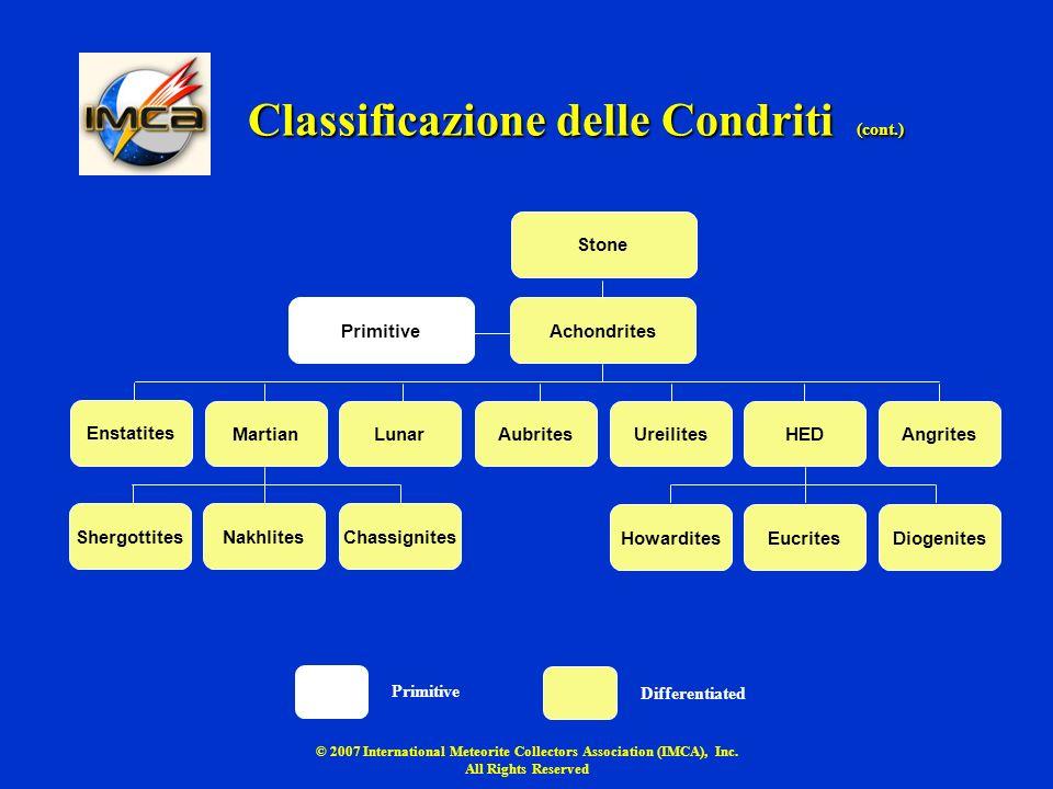 Classificazione delle Condriti (cont.)