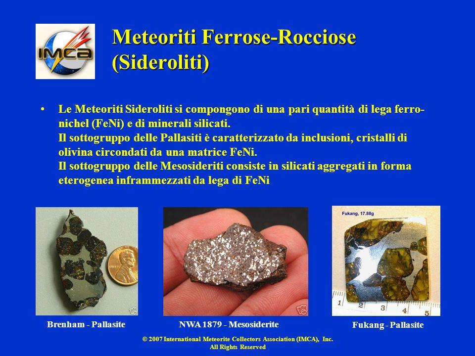 Meteoriti Ferrose-Rocciose (Sideroliti)