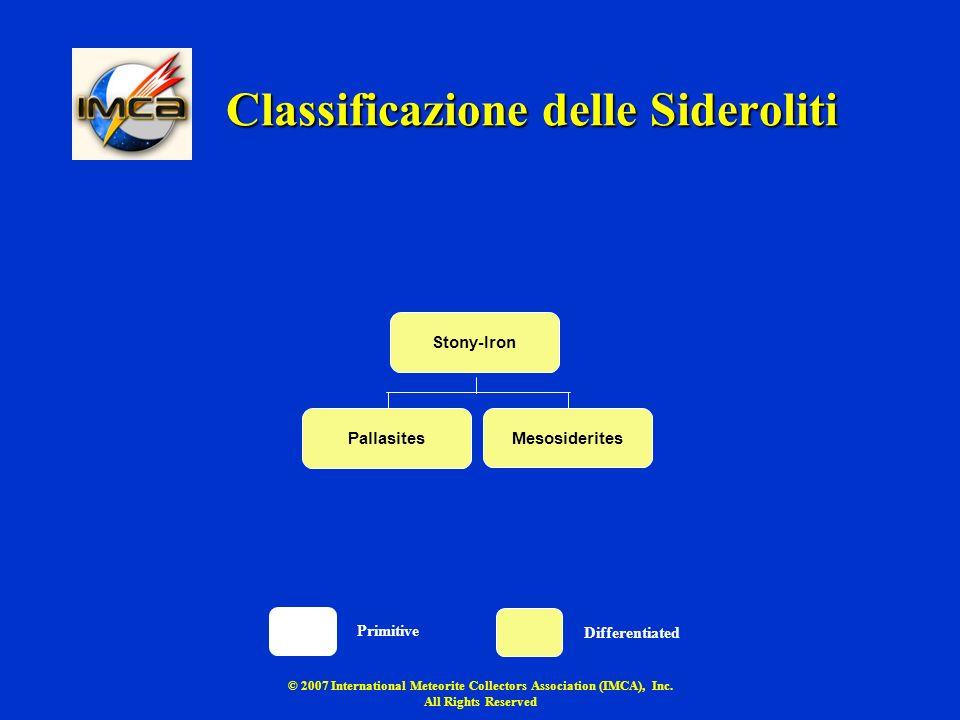 Classificazione delle Sideroliti