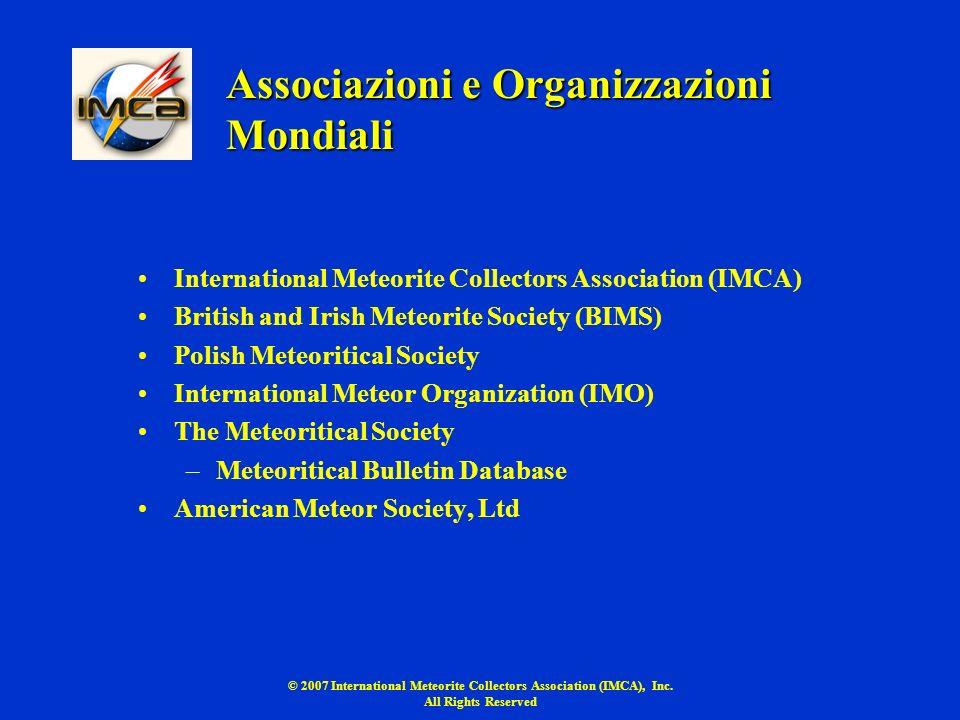 Associazioni e Organizzazioni Mondiali
