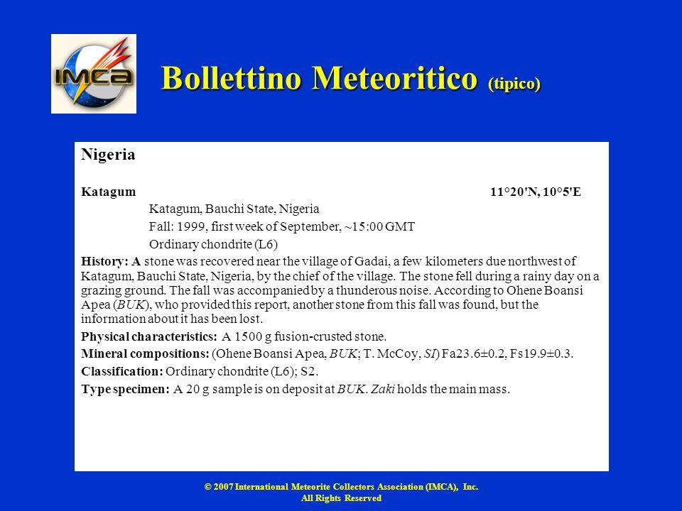 Bollettino Meteoritico (tipico)