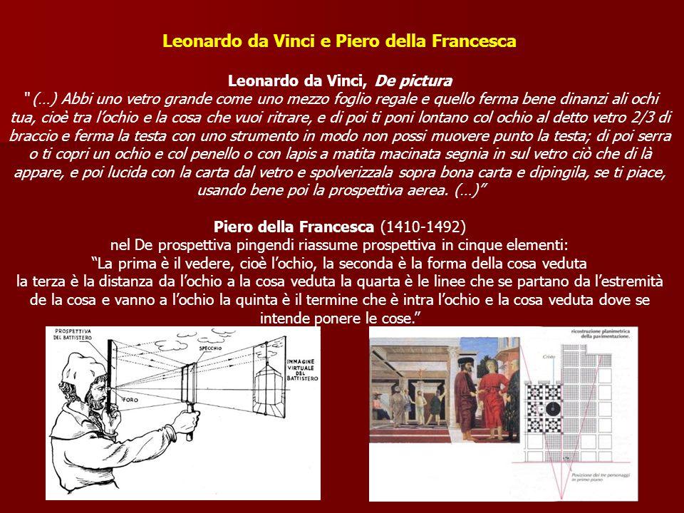 Leonardo da Vinci e Piero della Francesca
