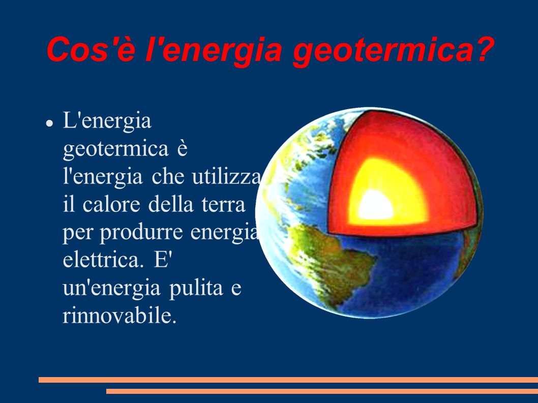 Cos è l energia geotermica