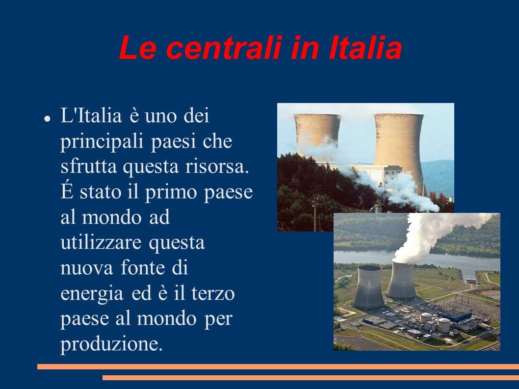 Le centrali in Italia