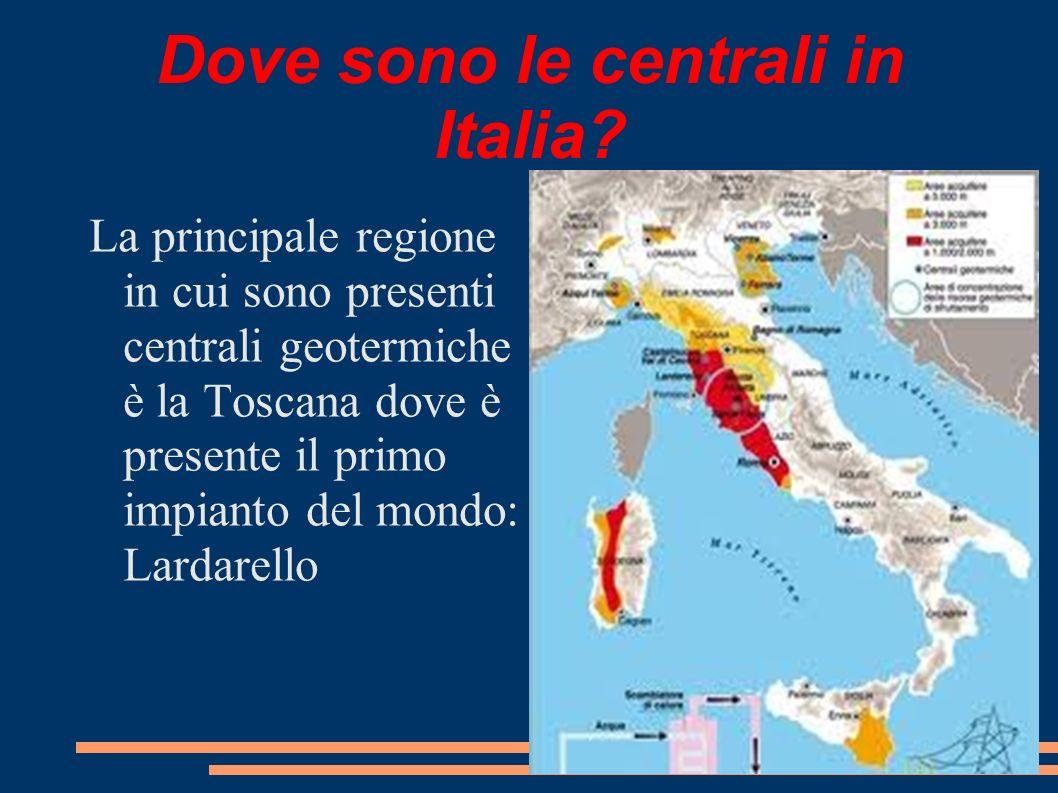 Dove sono le centrali in Italia