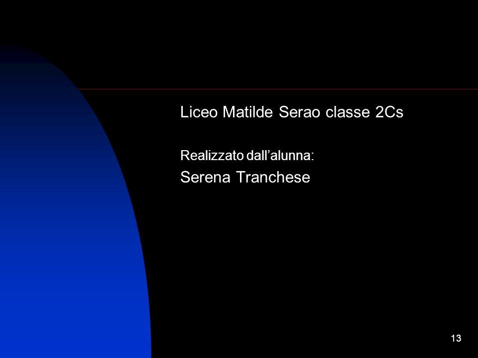 Liceo Matilde Serao classe 2Cs