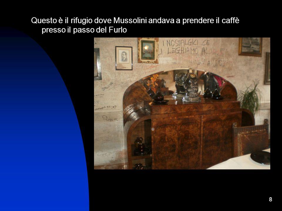 Questo è il rifugio dove Mussolini andava a prendere il caffè presso il passo del Furlo