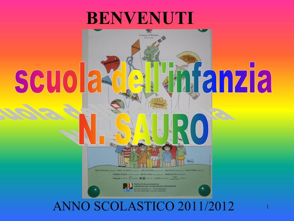 BENVENUTI scuola dell infanzia N. SAURO ANNO SCOLASTICO 2011/2012