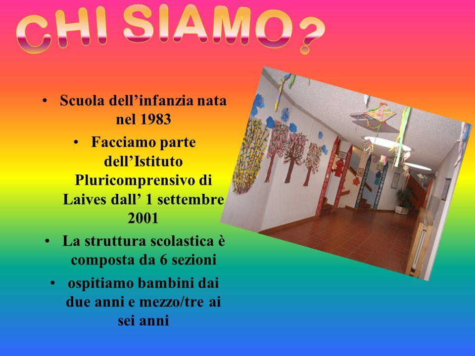CHI SIAMO Scuola dell'infanzia nata nel 1983