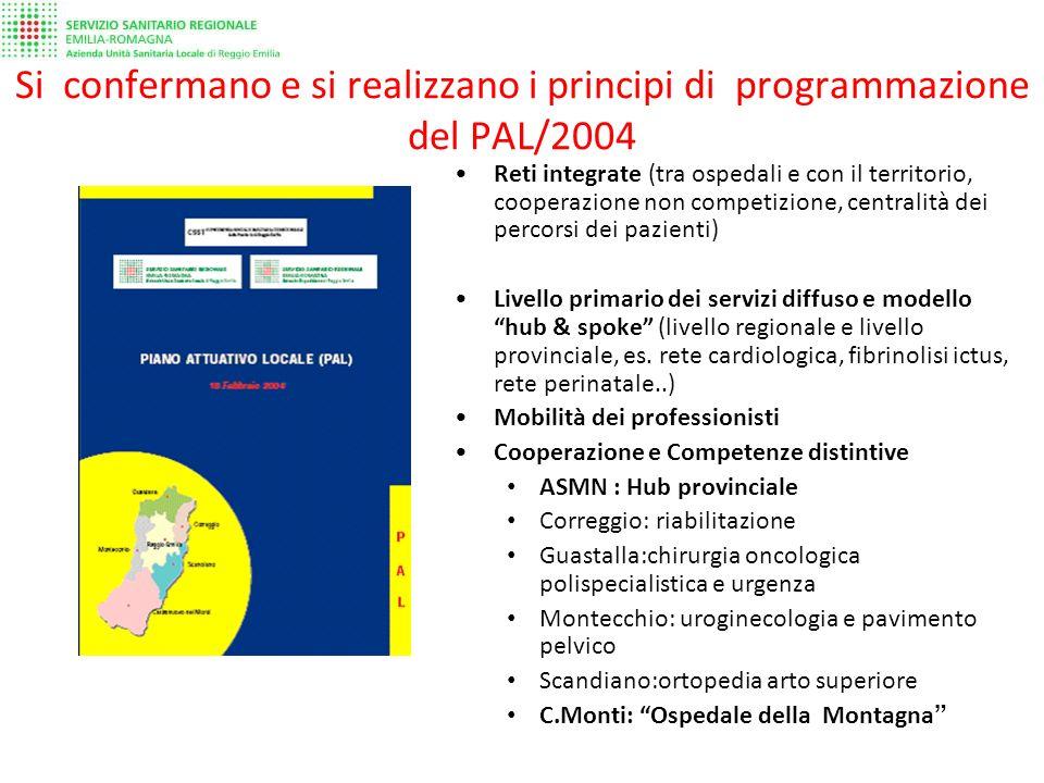 Si confermano e si realizzano i principi di programmazione del PAL/2004